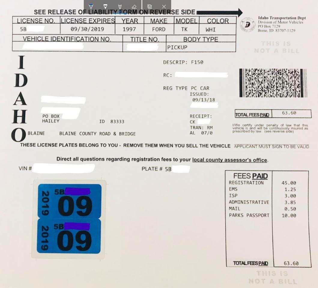 Registration Renewal New Tags